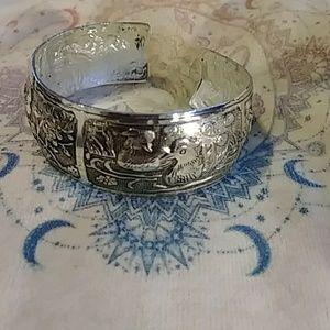 4 picture silver bangle